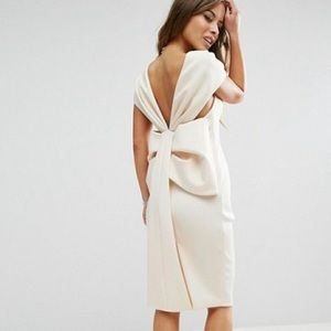 ASOS bow back midi dress